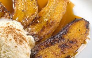 Bananas flambeadas