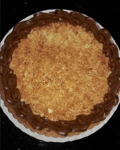 cómo preparar tarta de coco con dulce de leche